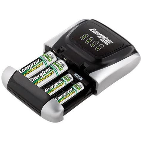Baterai Charger Energizer energizer compact charger with 4 aa batteries chdcwb 4 b h