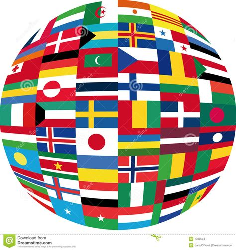 intern europe flag globe stock vector illustration of longitude