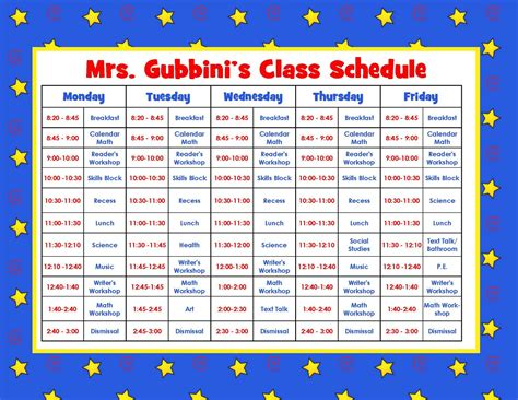 teacher schedule template new calendar template site