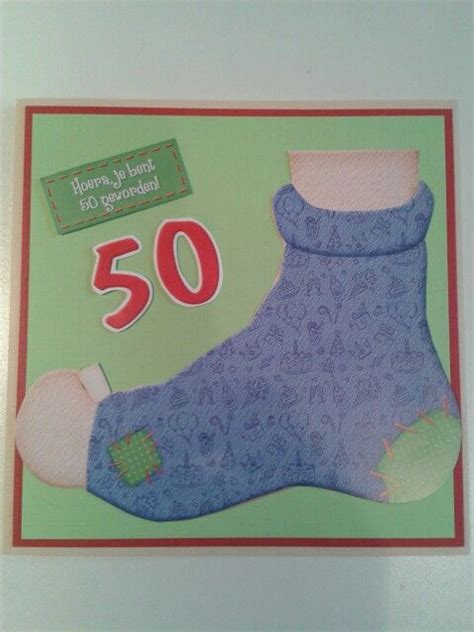 Kaart Met Oude Sok Voor  Jaar Verjaardag Pinterest