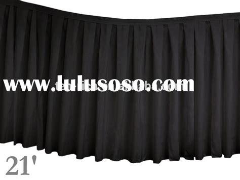 black polyester table skirt black polyester table skirting black polyester table
