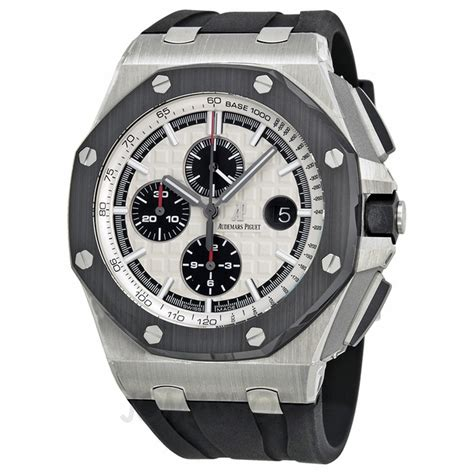 Audemars Piguet Roo Silver White audemars piguet royal oak offshore white mega tapisserie black rubber s