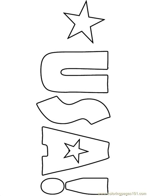 free coloring pages of usa map
