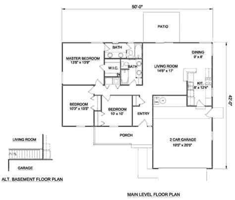home design for 1250 sq ft ranch style house plan 3 beds 2 baths 1250 sq ft plan