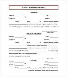 9 sample notary statements free sample example format