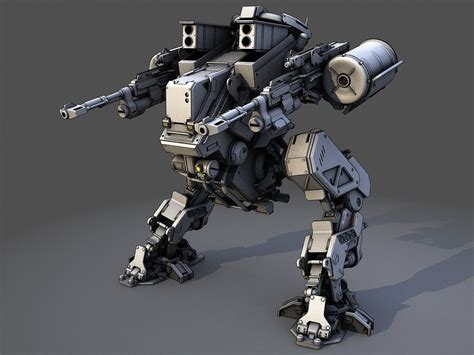 Mecha Model robot 3d model vehicle concepts robot 3d
