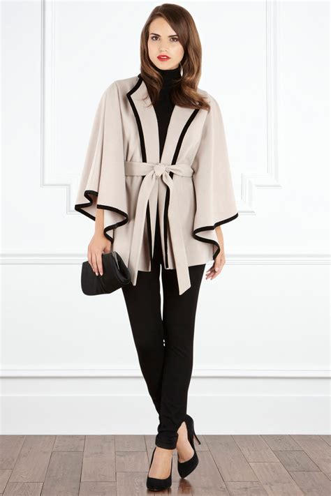 Define Exude by Coast Livia Cape Coat In Natural Lyst