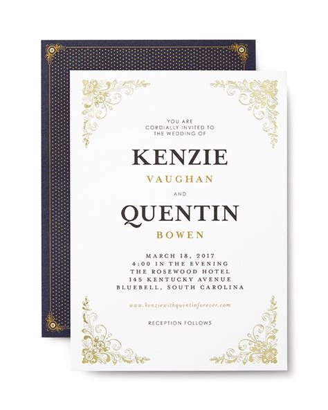 for the city wedding to classic affair this wedding invitation suite is refined in all its