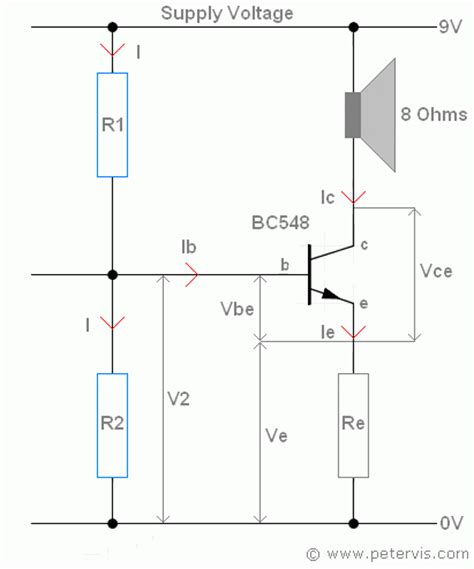 transistor lifier bias calculator potential divider bias
