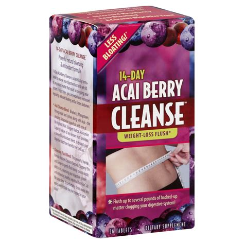 Acai Detox by Applied Nutrition Acai Berry Cleanse 14 Day 56 Tablets