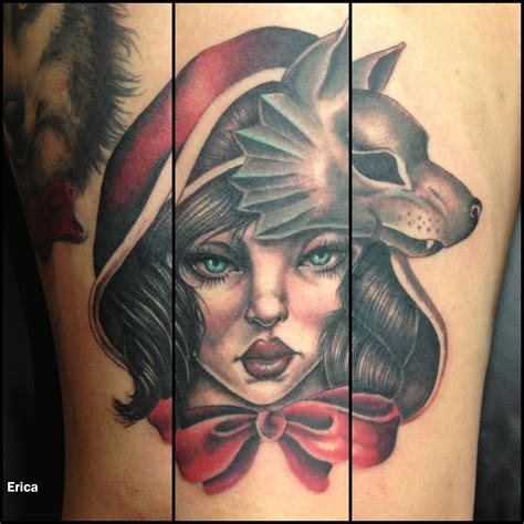 red riding hood tattoo portrait blackpearltattoo