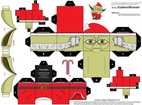 Santa Papercraft - cubee santa yoda by cyberdrone on deviantart