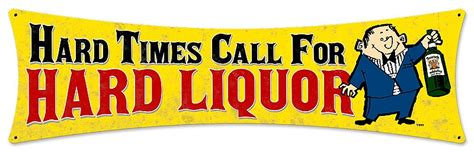 liquor signs hard liquor vintage metal sign