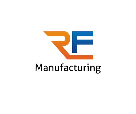 logo design for manufacturing serious modern it company logo design for rf