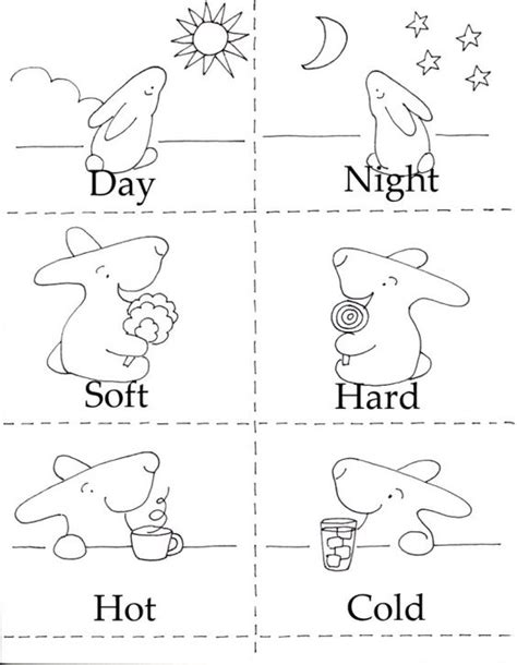 opposites coloring pages preschool 3 in 1 printables coloring minis and healthy