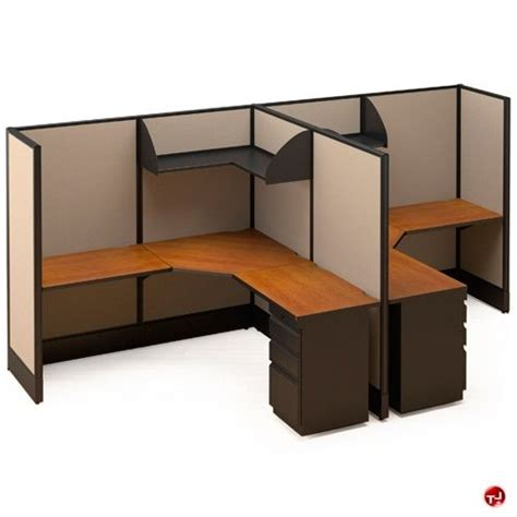 Office Cubicle Desk 2 Person Office Desk Picture Of 2 Person L Shape Electrified Cubicle Desk Workstation Office