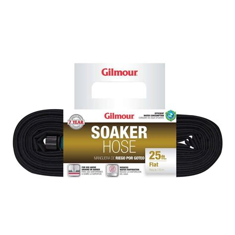 gilmour 5 8 in dia x 25 ft flat soaker water hose