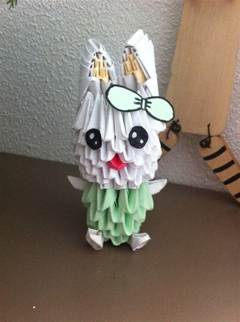 Origami 3d Rabbit - 3d origami bunny by animesanne on deviantart