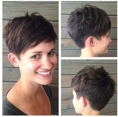 pictures of haircuts cut straught around shorter in back short spiky haircuts for women over 40