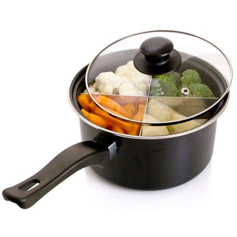 pan section 4 way saucepan 8 quot 6 quot sauce pan cooking dividers section