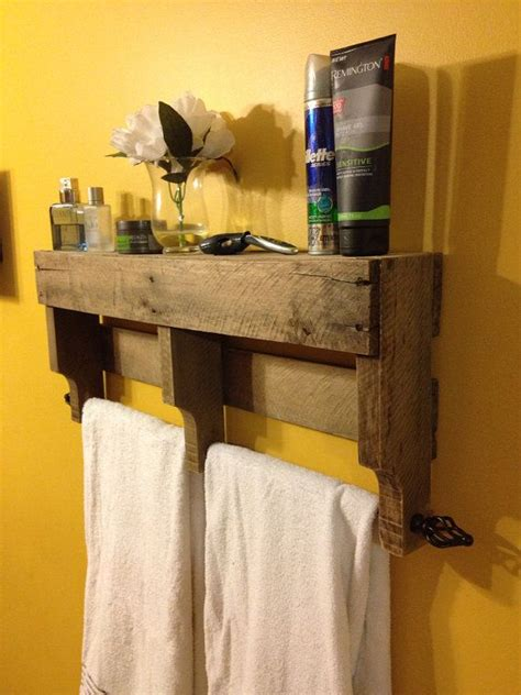 rustic bathroom towel racks the original rustic pallet towel rack shelf bathroom wall hanging curtain rods