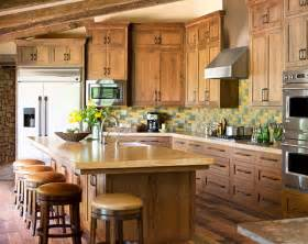 Raw Wood Kitchen Cabinets by Raw Character Kitchens With Natural Wood Cabinets