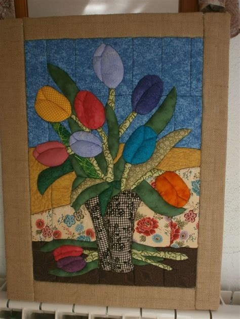patchwork aguja t 233 cnica aguja tulipanes patchwork panel patchwork