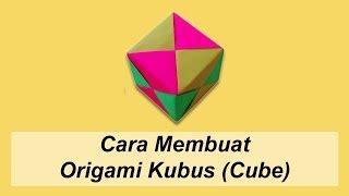 membuat origami kubus cara membuat origami kubus origami bangun ruang videos