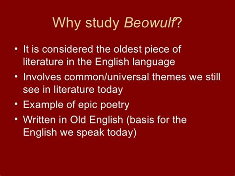 universal themes in literature exles introduction to beowulf