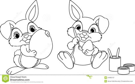 easter bunny coloring page royalty free stock photography