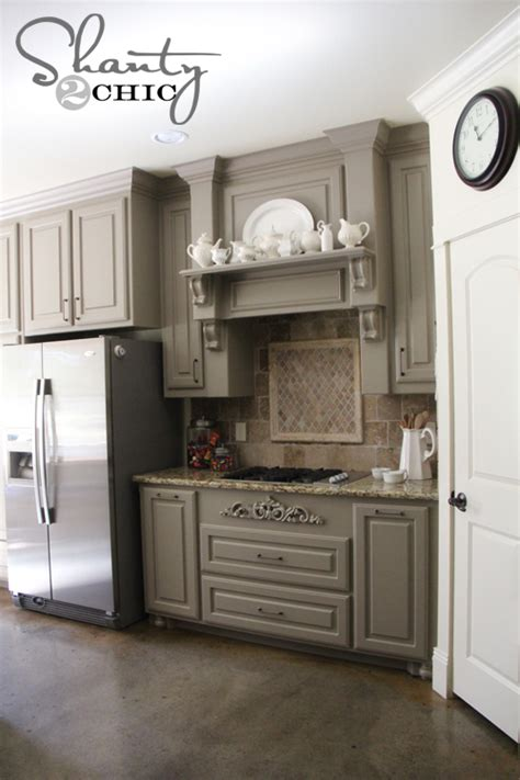 Gray Painted Kitchen Cabinets by Choosing My Battles And A Paint Color Shanty 2 Chic