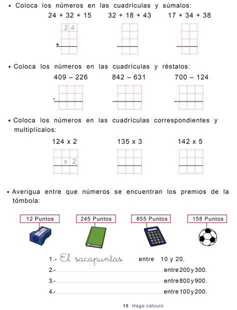 matemticas 1 primaria cuadernos repaso matem 225 ticas de segundo de primaria