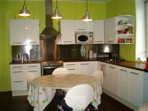 cuisine chocolat et vert anis deco cuisine vert anis et gris