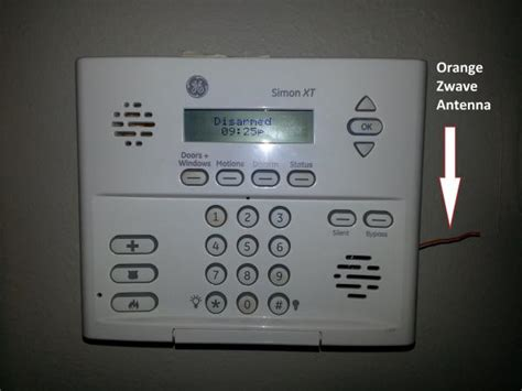 ge simon xt alarm zwave antenna question