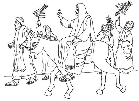 coloring pages jesus enters jerusalem free coloring page jesus enters jerusalem palm sunday