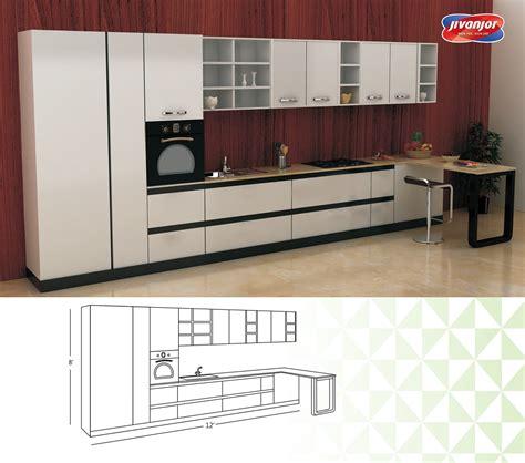 line kitchen designs single line large kitchen design for modern home jacpl