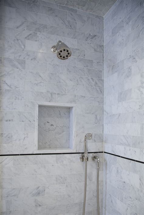 Marble Showers Bathroom Master Bathroom In Carrara Marble Complete Tile