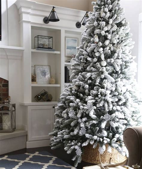 heavy flocked christmas tree clearance best 25 flocked artificial trees ideas on flocked trees snowy
