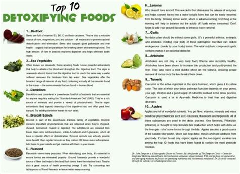 10 Foods That Detox The by Detox Foods Infographics