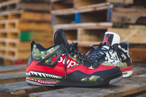 supreme shoes bape x supreme easy to use stencils to customize shoes