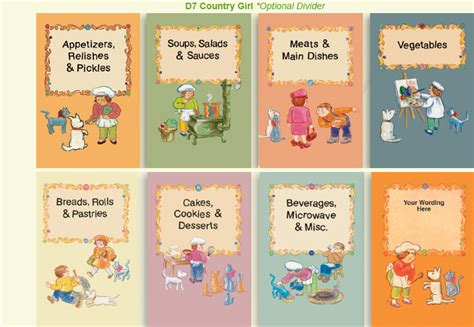 cookbook sections full color dividers fundcraft publishing