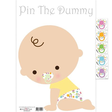 Pin The baby shower pin the dummy white