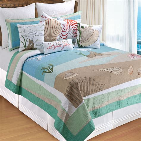 coastal bedding quilts whispering sands coastal quilt bedding