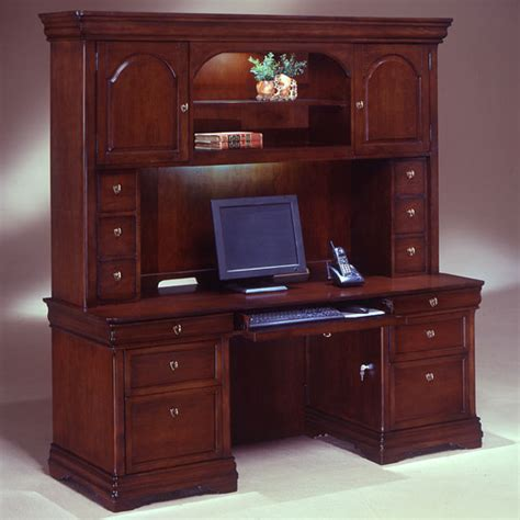 Credenza With Hutch Desk Set Executive Office Furniture Office Desks With Hutch