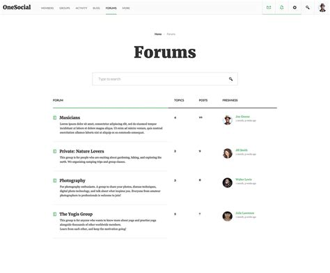 forum layout exles 18 best wordpress bbpress forum and community themes in