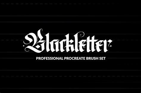 Pro Blackletter Procreate Brushes Brushes Creative Market Free Procreate Templates