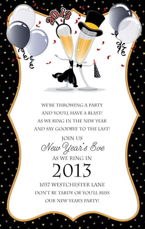new year invitation design formal invitation for new year image collections