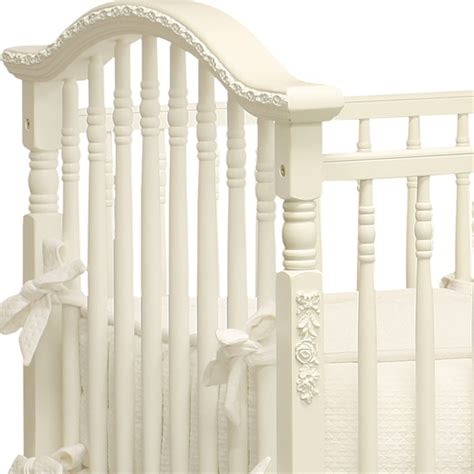 White Spindle Crib by Classic White Spindle Crib By For