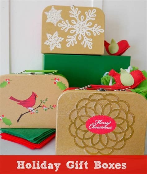 holiday gift boxes easy diy craft