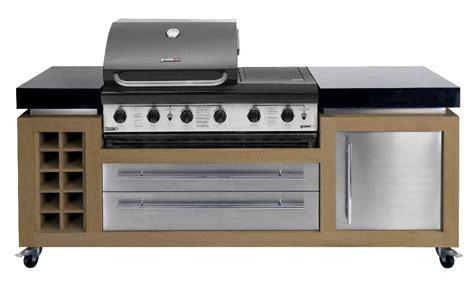 modern outdoor kitchens oak stainless steel granite